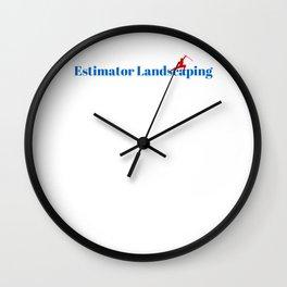 Estimator Landscaping Ninja in Action Wall Clock