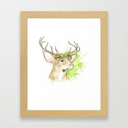 Stag Illustration Framed Art Print