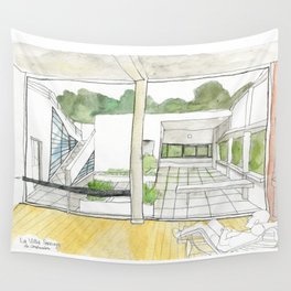 La Villa Savoye - Le Corbusier Wall Tapestry