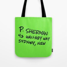 P. Sherman, 42 Wallaby Way Tote Bag