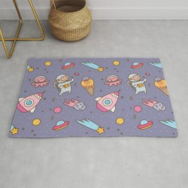 Outer space seamless background Rug