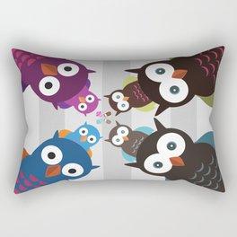 Owl Crowd Rectangular Pillow