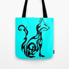 Cat blue Tote Bag