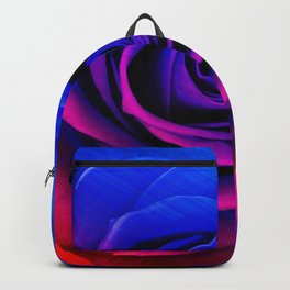 Blue and pink rose Backpack