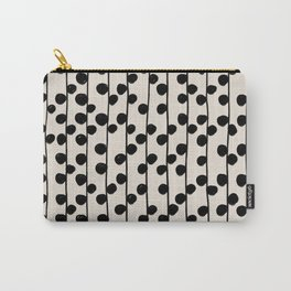 Dots / Black & White Pattern Carry-All Pouch