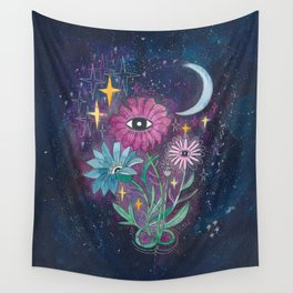 Moonflowers Wall Tapestry
