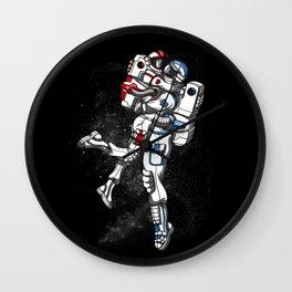 Space Astronaut Cute Couple Cosmic Wall Clock