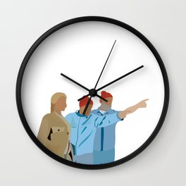 The Life Aquatic with Steve Zissou: Minimalist Poster Wall Clock