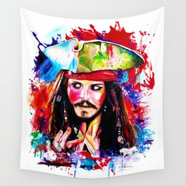 Captain Jack Sparrow Wall Tapestry