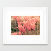tulips Framed Art Prints featuring Tulips by Maria Heyens