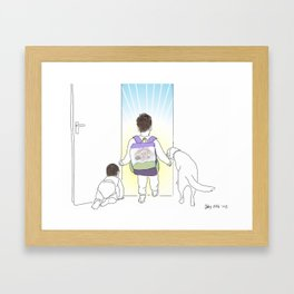 Morning Routine 5 - Out the Door Framed Art Print