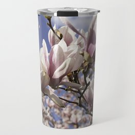 Magnolia Blossoms Shiver Against A Chill Wind Travel Mug