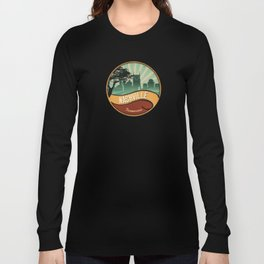 Nashville City Skyline Tennessee Retro Vintage Design Long Sleeve T-shirt