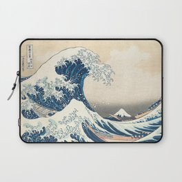 The Great Wave off Kanagawa by Katsushika Hokusai from the series Thirty-six Views of Mount Fuji Laptop Sleeve
