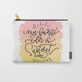 My Favorite Color is Sunset Carry-All Pouch