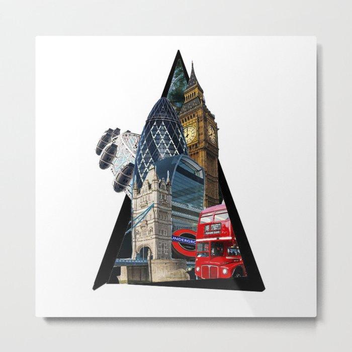 London UK Symbol ArtWork Cities Metal Print