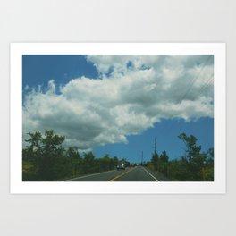 Clouds over Kīlauea Art Print