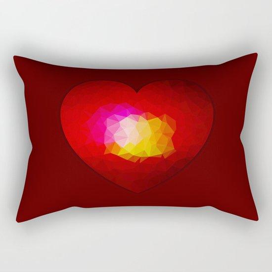 Red geometric burning heart Rectangular Pillow
