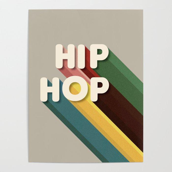 HIP HOP - typography Poster