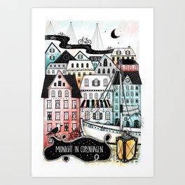 Midnight in Copenhagen Art Print