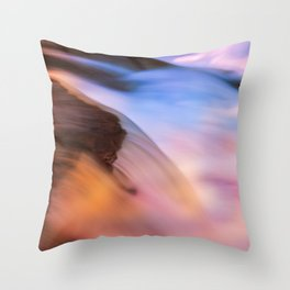 Stream of Swallowed Colors Throw Pillow