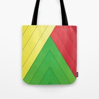 rasta Tote Bags featuring Rasta Triangles by Arlo @ Creative Konzepts