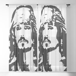 pirates caribbean sea Sheer Curtain
