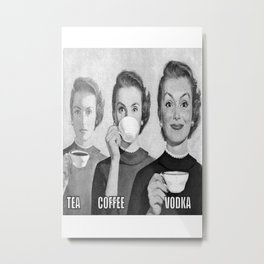 A good drink whenever Metal Print
