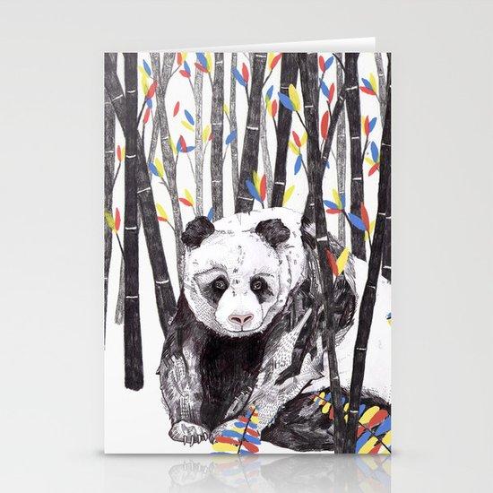 Panda Bear // Endangered Animals Stationery Cards