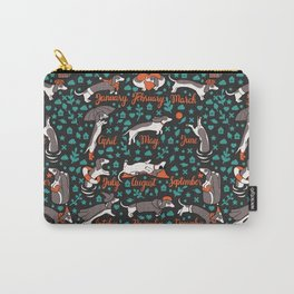 Dachshund year - lettering pattern Carry-All Pouch