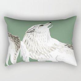 Totem Alaska tundra wolf Rectangular Pillow