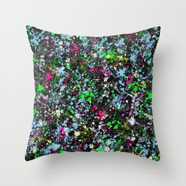 paint drop design - abstract spray paint drops 2 Throw Pillow