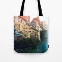 manhattan Tote Bags featuring Manhattan by Keira
