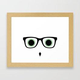 Hipster Owl No.7 Framed Art Print