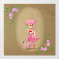 Retro Sailor Chibi Moon Canvas Print
