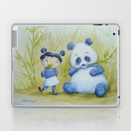 """Panda Pal Pleasantries"" Laptop & iPad Skin"