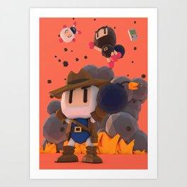 Bomberman GB Art Print