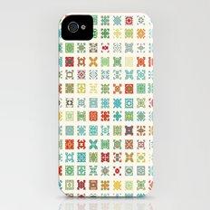 Fairisle 1 Bone Slim Case iPhone (4, 4s)