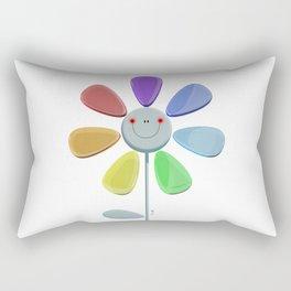 Rainbow Flower 2 Rectangular Pillow