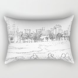 Trinity Bank with friends Rectangular Pillow