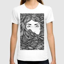 Flowing hair T-shirt