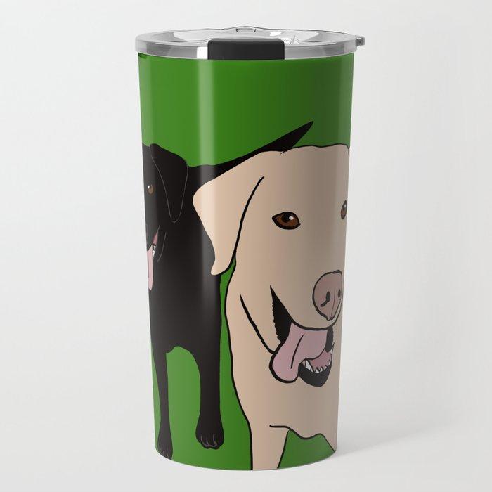 Tanner and Lily Best Labrador Buddies Travel Mug