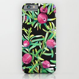 English Yew with red berry - Taxus Baccata iPhone Case