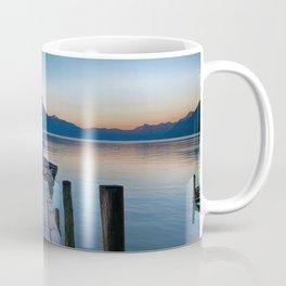 The Dock Sunset (Color) Coffee Mug