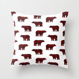Lumberjack Bears Throw Pillow