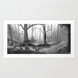 Winter in Forest Art Print