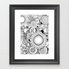 Floral Kaleidoscope  Framed Art Print