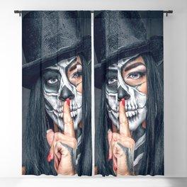 Dia De Los Muertos Day of the Dead Sugar Skull Model Makeup Ultra HD Blackout Curtain