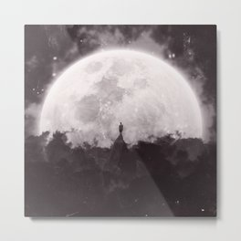 The Moon and I Metal Print