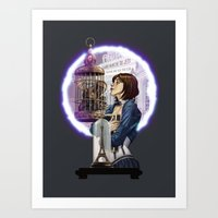bioshock infinite Art Prints featuring Bioshock Infinite: Freedom  by Daydreams and Giggles Studios